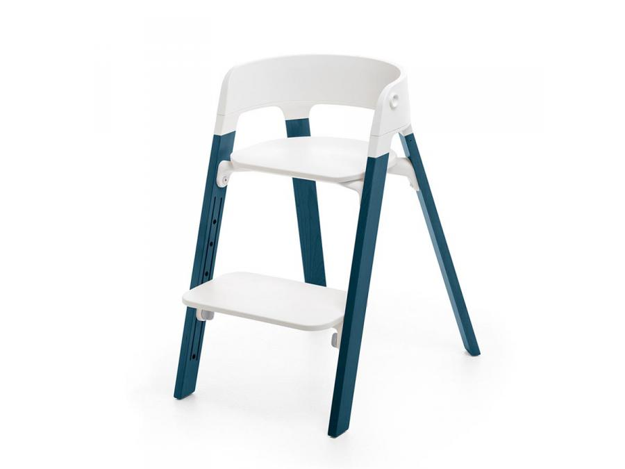 stokke pieds de chaise haute steps h tre bleu nuit. Black Bedroom Furniture Sets. Home Design Ideas
