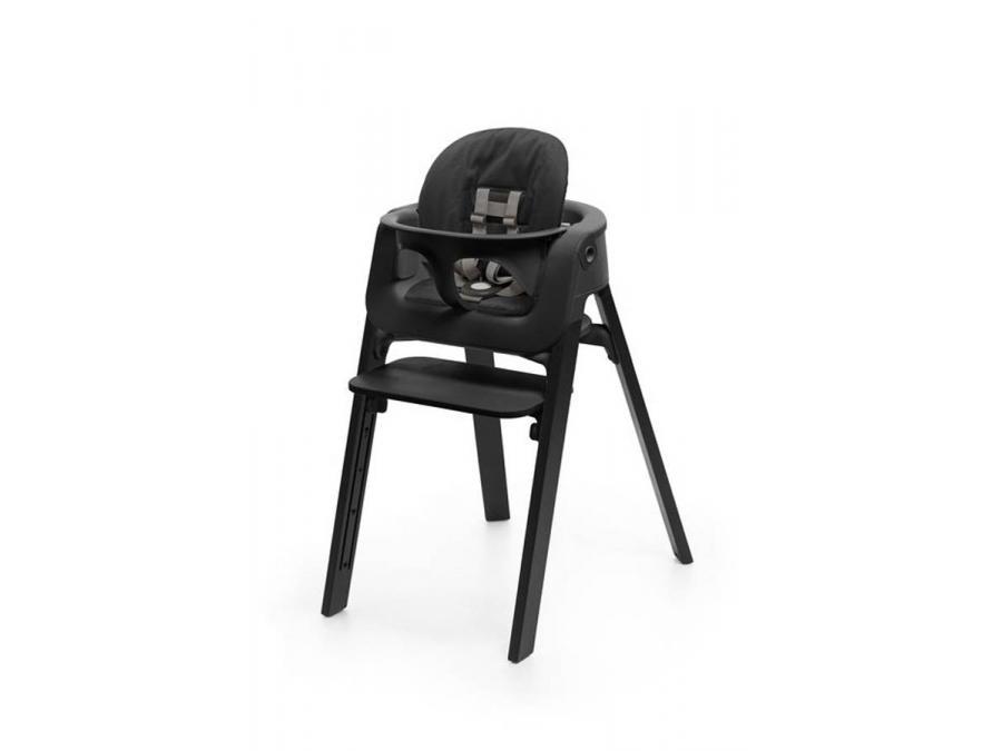 stokke coussin noir pour chaise haute steps. Black Bedroom Furniture Sets. Home Design Ideas