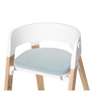 Stokke - 504401 - Coussin assise Croisé jade pour chaise haute Steps (372542)