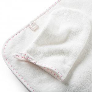 Stokke - 253706 - Cape de bain et gant de toilette Coton Biologique Rose abeille (372570)