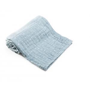Stokke - 518701 - Couverture en mousseline de coton biologique  Blue Slate Ocean (372572)