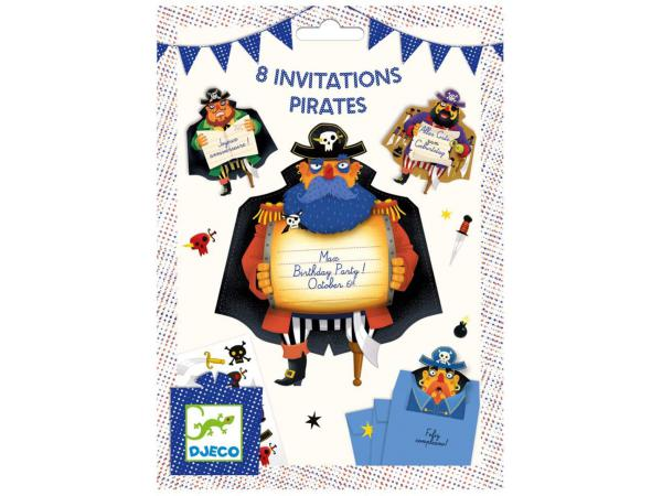 Cartes d'invitation pirates