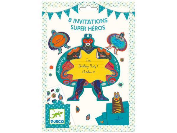 Fêtes - anniversaires - cartes d'invitation super héros