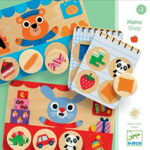Djeco - DJ01642 - Jeux éducatifs bois -  Memo Shop (372736)