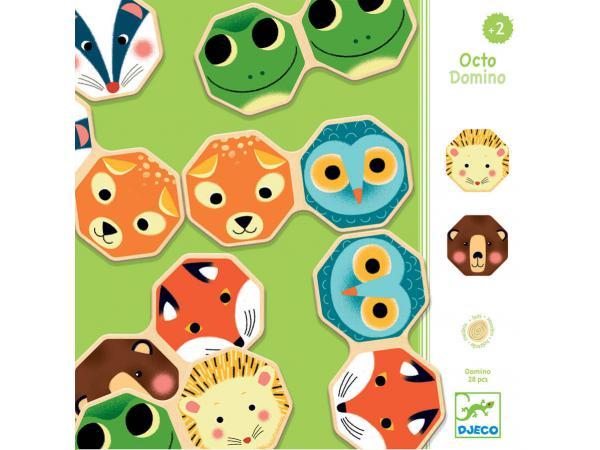 Jeux éducatifs bois - octo domino *