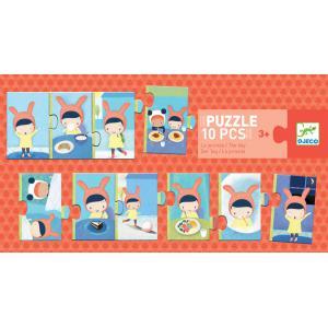 Djeco - DJ08179 - Puzzles duo-trio -  Puzzle la journée (372798)