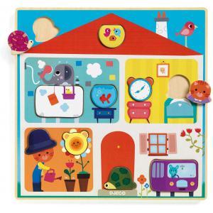 Djeco - DJ01519 - Puzzles éducatifs bois -  Swapy (372800)