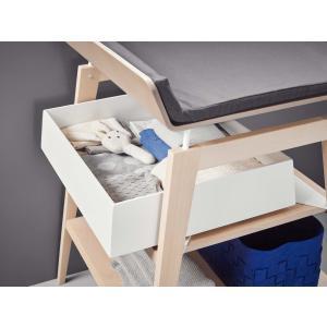 Leander - 502127 - Tiroir de table à langer Linea, Blanc (373108)