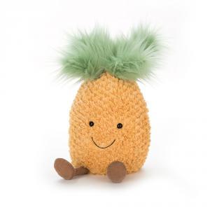 Jellycat - A2P - Peluche ananas Amuseable - L = 14 cm x l = 15 cm x H =25 cm (373710)