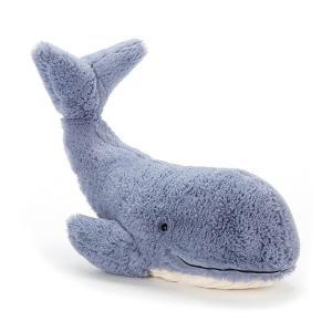 Jellycat - WIL3WS - Peluche baleine Wilbur - L = 12 cm x l = 37 cm x H =13 cm (373808)