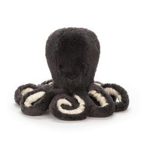 Jellycat - ODB4INK - Peluche poulpe Inky gris foncé - Baby 14 cm (373814)