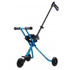 Micro - TR0005 - Micro Trike Deluxe - Le porteur enfant ultra compact - Bleu anodisé - comprend lanières d'attache sur siège (375504)