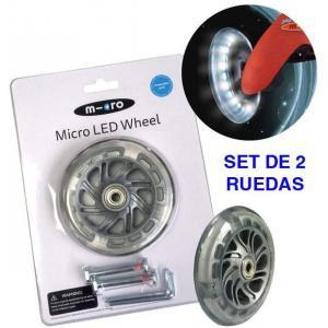 Micro - AC9038B - Roue Lumineuse avant pour Mini, Maxi, Sprite et toutes roues Trike  !! NOUVEAU !!   (vendue par deux) (375562)