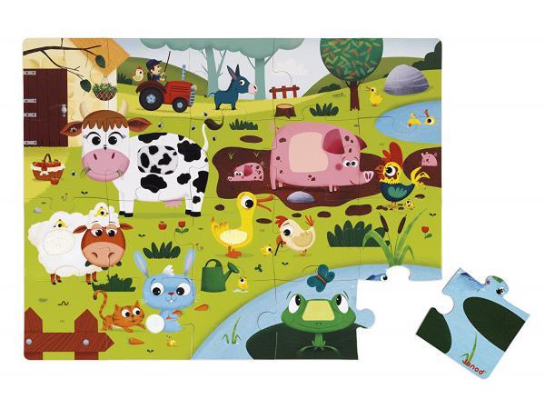 Puzzle tactile 'les animaux de la ferme' - 20 pcs