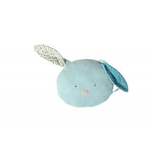 Moulin Roty - 665130 - Coussin tête lapin bleu Les Jolis trop beaux (377578)