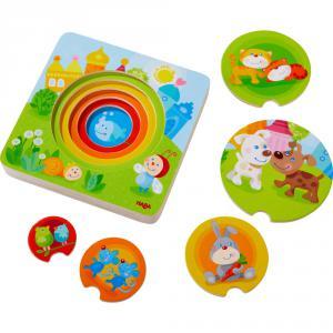 Haba - 303536 - Puzzle en bois Bébés animaux multicolores (377780)