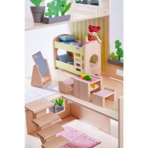 Haba - 303836 - Little Friends – Meubles pour maison de poupée Chambre d'enfant pour deux enfants (378024)