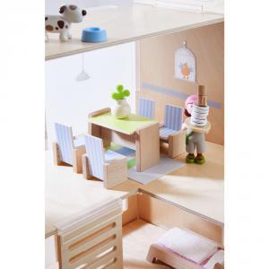 Haba - 303839 - Little Friends – Meubles pour maison de poupée Salle à manger (378030)