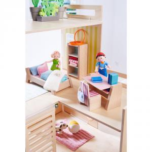 Haba - 303841 - Little Friends – Meubles pour maison de poupée Chambre d'ado (378034)