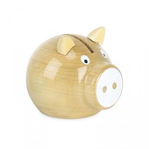 Vilac - 5129W - Tirelire cochon bois naturel-blanc - à partir de 5+ - Origine France (378356)