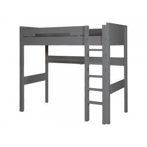 Bopita - 55014620 - Lit Mezzanine XL 188 cm COMBIFLEX gris profond, échelle droite (378882)