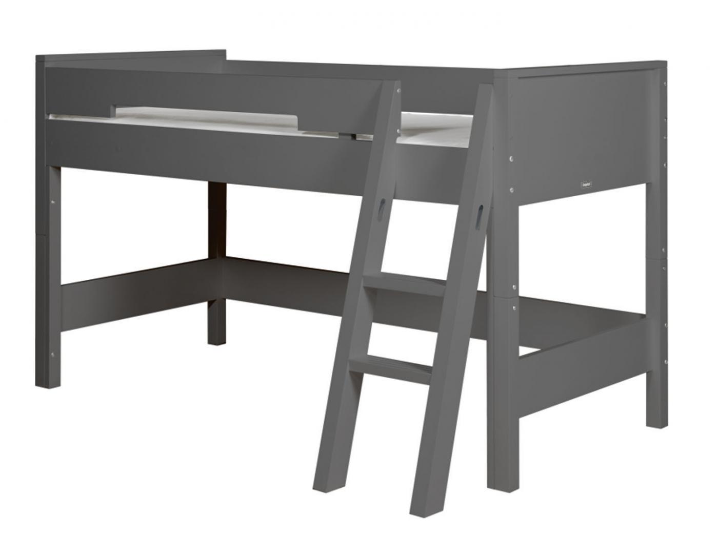 lit mezzanine mi hauteur 128 cm combiflex gris profond chelle inclin e. Black Bedroom Furniture Sets. Home Design Ideas