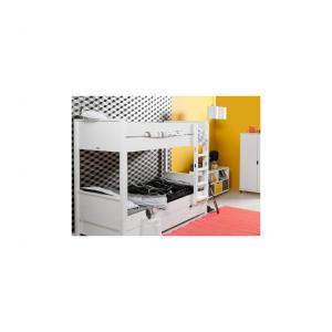 Bopita - 55014611 - Lit Mezzanine XL 188 cm COMBIFLEX blanc, échelle droite (378902)