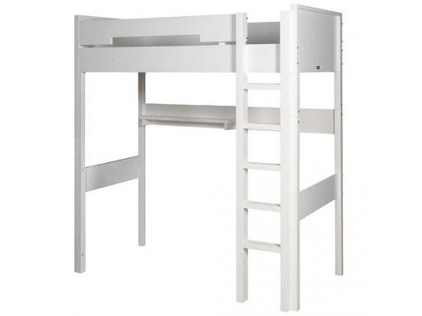 Bopita echelle droite pour lit mezzanine xl combiflex blanc - Lit mezzanine echelle cote ...