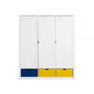 Bopita - 23304611 - Armoire 3 portes MIX & MATCH LUXE blanc (excl. 3 tiroirs 3546xx) (379234)