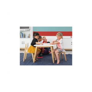 Bopita - 12100103 - Petite chaise IVAR blanc-naturel (379496)