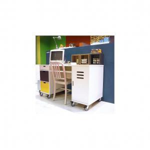 Bopita - 24404611 - Bureau MIX & MATCH LOCKER blanc (excl. 2 tiroirs) (379520)