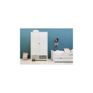 Bopita - 14610734 - Armoire 2 portes XL BASIC WOOD banc cérusé-white wash (excl. 2 tiroirs 135107xx) (379526)