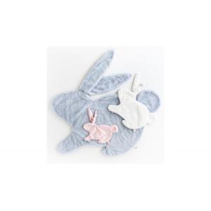 Dimpel - 885911 - Emma lapin attache-tétine - beige-gris (379552)