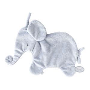 Dimpel - 885300 - Eléphant doudou attache tetine 27 cm - bleu (379622)