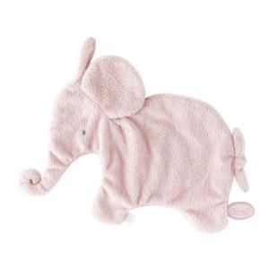 Dimpel - 885001 - Eléphant doudou attache tetine 27 cm - rose (379628)