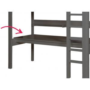 Bopita - 47214620 - Planche de bureau pour lit Mezzanine Combiflex XL gris profond (379720)