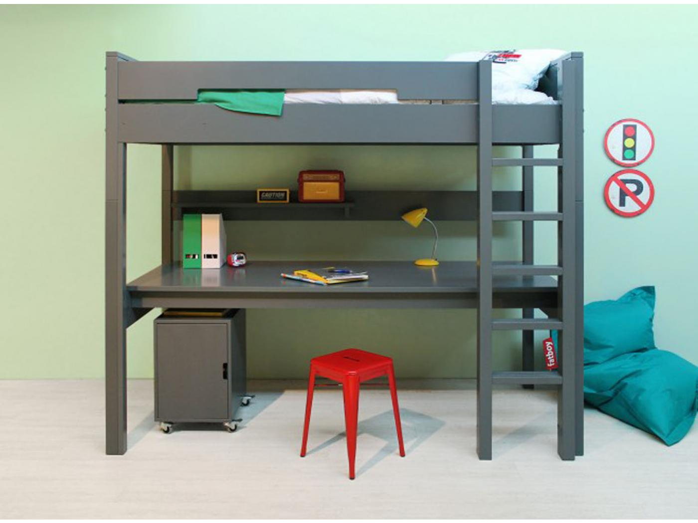 bopita planche de bureau pour lit mezzanine combiflex xl gris profond. Black Bedroom Furniture Sets. Home Design Ideas
