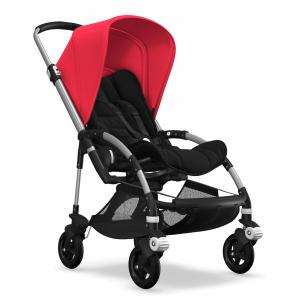 Bugaboo - BU214 - Nouvelle poussette Bee5 capote Rouge néon chassis alu (379730)