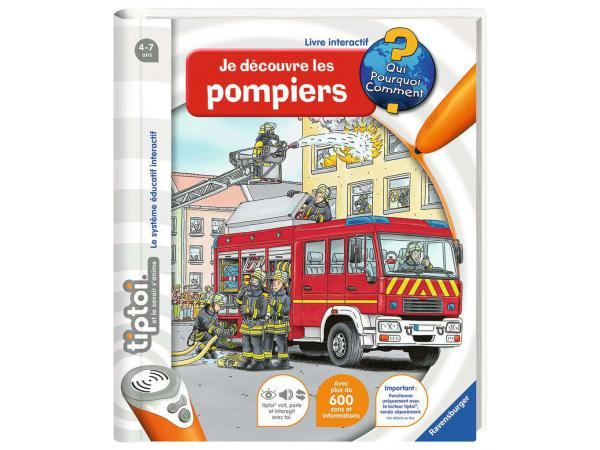 Jeux éducatifs tiptoi - je découvre les pompiers