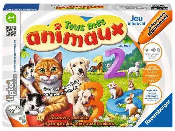 Jeux éducatifs tiptoi - tous mes animaux