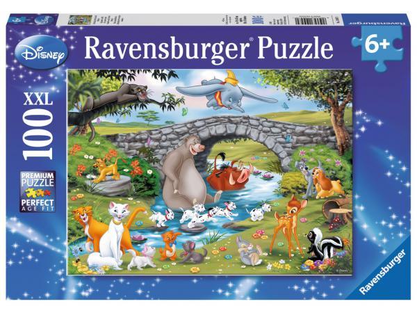 Puzzle 100 pièces xxl - la famille d'animal friends / disney