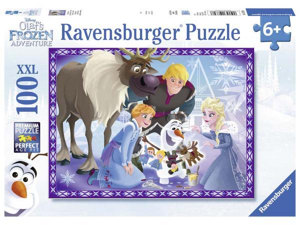Puzzle 100 pièces xxl - la famille est une tradition / les aventures d'olaf