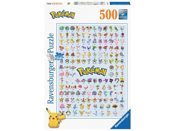 Puzzle 500 pièces - pokédex première génération / pokémon