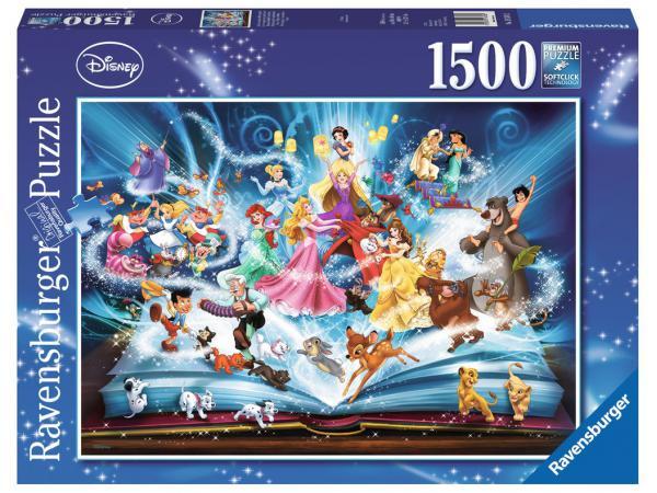 Puzzle 1500 pièces - le livre magique des contes disney