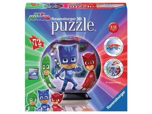 Puzzle 3d rond 72 pièces - collection classique - pyjamasques