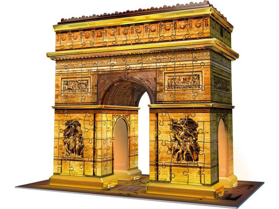 Puzzle Triomphe Night Collection 12522 Edition Arc Midi De 3d Illuminée Building HYW2IE9D