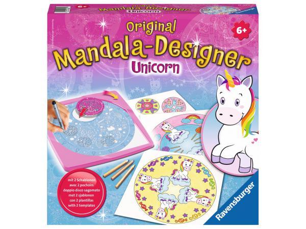 Mandala designer® classique - jeu créatif - licornes
