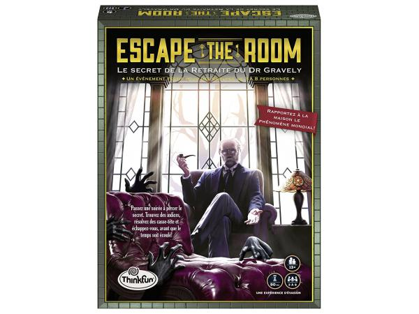 Jeux de société famille - thinkfun -escape the room - le secret de la retraite du dr gravely (f)