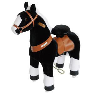 Ponycycle - N3182 - Cheval noir avec bas de jambes blancs hauteur siège 49 cm - dim. 62 x 28 x 76 cm (380958)