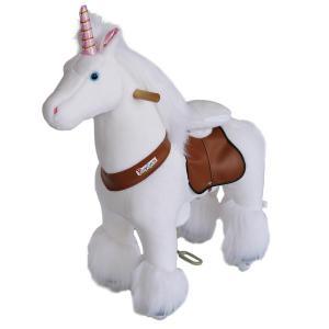 Ponycycle - N3042 - Licorne hauteur siège 49 cm - dim. 62 x 28 x 76 cm (380962)